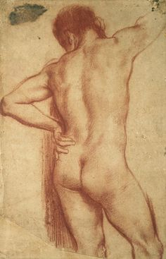 Study of nude man by Annibale Carracci