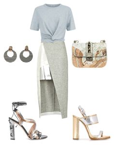 """Saturday We Shine!!!"" by la-harrell-styling-co on Polyvore featuring D'Albert, Paula Cademartori, Dsquared2, T By Alexander Wang and Valentino"