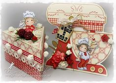 Cards made by Chantal: Time for baking - Kitchen set