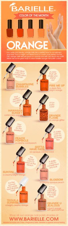 September is here and this month we are all about Orange Nails!