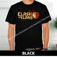 Clash of Clan Gaming Logo Broken T-Shirt Black