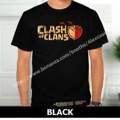 Clash of Clan Gaming Logo Broken T-Shirt Black