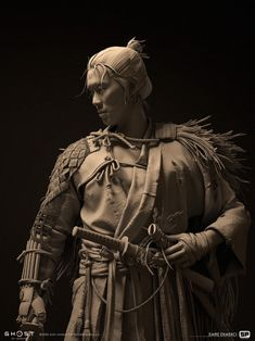 Ghost Armor, Samurai Concept, Zbrush Models, Ninja, Samurai Artwork, Ghost Of Tsushima, 3d Figures, Anatomy Sketches, Samurai Warrior