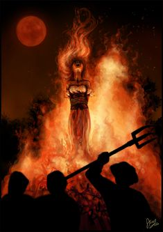 Witchcraft Burning | Digital Art / Drawings & Paintings / Macabre & Horror ©2008-2013 ...