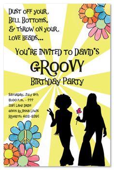 Hippie Party Supplies 60s | Kids Birthday Invitations Girls Boys Boys & Girls Sweet 16 Invitations ...