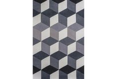 Add a touch of modern flair to your abode with the eye-catching geometric pattern of this thick, hand-tufted rug. Living Room Furniture Inspiration, Living Spaces Furniture, Modern Furniture, Room Inspiration, Design Inspiration, 3d Tiles Bathroom, Hand Tufted Rugs, Geometric Rug, Geometric Patterns