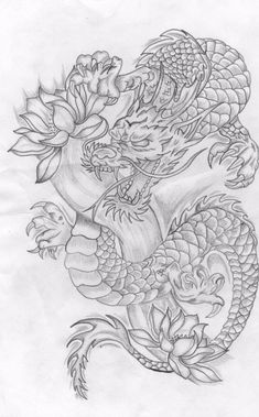 Top 30 stunning and realistic dragon drawings - Mashtrelo Top 30 at . - Top 30 stunning and realistic dragon drawings – Mashtrelo Top 30 stunning and realistic dragon dr - Japanese Dragon Tattoos, Japanese Tattoo Art, Japanese Tattoo Designs, Japanese Sleeve Tattoos, Japanese Drawings, Realistic Dragon Drawing, Dragon Tattoo Drawing, Dragon Drawings, Chinese Dragon Drawing