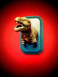 Dinosaur Faux Taxidermy by MarciandSon on Etsy, $12.99  Perfect for a little boys room or as a gag gift.