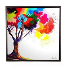 An explosion of colour and hope, Steven's Tree of Aura is one of his most popular designs, and will lift the spirit and soothe the soul. Steven S, Modern Art, Spirit, Artists, Colour, Popular, Wall Art, Abstract, Brown