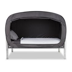 Privacy Pop Bed Tent (Twin XL) - BLACK Privacy Pop