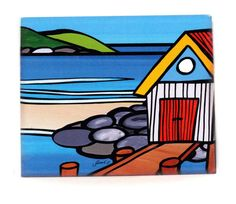 Sarah C Art Block : Boat Shed on the Rocks Sarah C, Boat Shed, New Zealand Art, Nz Art, Kiwiana, Fashion Painting, Art Google, The Rock, Art For Kids