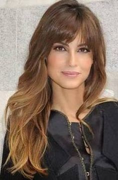 Long Hairstyles With Bangs 57 Of The Most Beautiful Long Hairstyles With Bangs  Pinterest