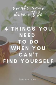 4 things you need to do when you can't find yourself // Accepting your life as your own and realizing that you can change it at any given moment will help you create the life that is aligned with your values and your purpose. #selfdevelopment #limitingbeliefs #habits #motivation Identity In Christ, Authentic Self, Finding Yourself, Create Yourself, Spiritual Growth, Dream Life, Confidence, Coaching, Minimal