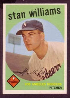 1959 TOPPS STAN WILLIAMS CARD NO:53 NEAR MINT CONDITION