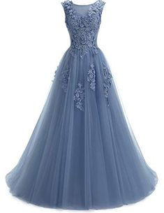online shopping for Ever Girl Women's Sweep Lace Appliques Scoop Collar Tulle A-Line Prom Dresses from top store. See new offer for Ever Girl Women's Sweep Lace Appliques Scoop Collar Tulle A-Line Prom Dresses A Line Prom Dresses, Homecoming Dresses, Bridesmaid Dresses, Formal Dresses, Dresses Dresses, Robes Dos Nu Maxi, Pretty Dresses, Beautiful Dresses, Robes Quinceanera