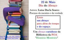 Livro um abraço para além do tempo e do espaço.  Luísa Ducla Soares - Poemas da Mentira e da Verdade