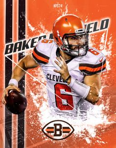 Check out all our Cleveland Browns merchandise! Baker Mayfield Nfl, Cleveland Browns Football, Brown Wallpaper, Browns Fans, Football Conference, Odell Beckham Jr, Golf Stores, Sports Art, National Football League