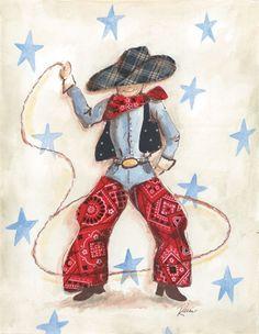 Cowboy Weathered Frame Art