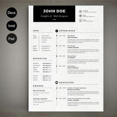 Simple Resume by Estartshop on Creative Market Best Resume Template, Resume Design Template, Cv Template, Templates Free, Design Templates, Resume Tips, Resume Examples, Resume Layout, Create A Resume