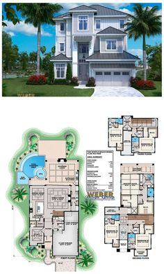 This beach house plan is designed with much thought to its open layout and view oriented floor plan. This home plan functionally caters to what modern families want in a waterfront, three-story home plan. More beach house plans: https://www.weberdesigngroup.com/home-plans/style/beach-house-plans