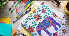 Retro desk with adult coloring books, stress relieving trend, mindfulness concept Adult Coloring, Coloring Books, Retro Desk, Burn Out, Book Cafe, Hobbies And Interests, How To Relieve Stress, Amazing Art, Royalty Free Stock Photos