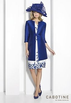 A very stylish Mother of the Bride dress and coat by Cabotine.