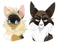 Mothwing (left) and Hawkfrost