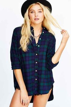BDG Obie Flannel Button-Down Shirt - Urban Outfitters 49.00