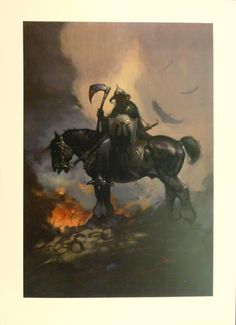 Frank Frazetta - Death Dealer  Killer iIlustration!