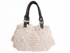 Ivory Shoulder Bag Celebrity Style With Genuine by Sudrishta, $130.00