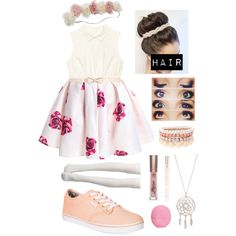 Untitled #276 by starmaterial54 on Polyvore featuring polyvore, fashion, style, Vans, Lipsy, River Island, Forever New and Eos