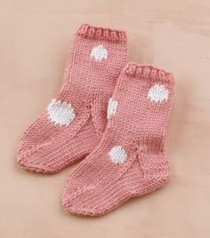 Free Knitting Pattern L10122C Duplicate Stitch Wee Socks : Lion Brand Yarn Company