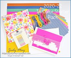 I've created an exclusive 2020-22 In Color Starter Pack. It has the In Color cardstock, designer paper, ribbons and enamel dots. Plus, I have added the coordinating Flowers for Every Season designer paper that incorporates all of the In Colors in floral and small print designs. You will receive some BONUS items from me, including the tutorial and a card kit for one of the cards in my In Color Box Set of Cards. Click to see more details. This offer is only available to Australian residents.
