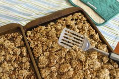 Chunky Homemade Granola -- healthy granola that you'll want to eat by the handful…makes a big batch, too!