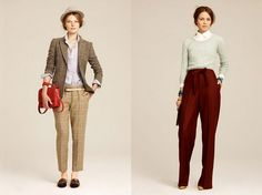 J Crew Menswear inspired women's clothes.
