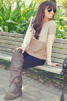 Stacks On Stacks Sweater: Tan