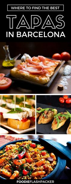 Heading to Spain? Check out where to Find the best tapas in Barcelona, Spain. Here you'll find a list of the best tapas Barcelona has to offer! | tapas Barcelona restaurants | tapas in Spain |  tapas Barcelona bar |  where to eat in Barcelona tapas bar | Barcelona food guide  #tapas #barcelona - via @foodieflashpack