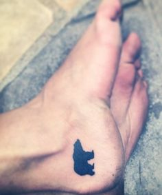 California Bear Paw Tattoo