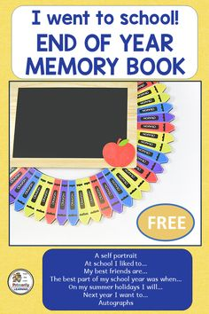 This End of Year Memory Book includes pages for students to write and draw about their school year. It is a simple black Jolly Phonics, Spelling Activities, Sequencing Activities, Phonics Activities, Writing Activities, Literacy Skills, Early Literacy, Nursery Rhymes Kindergarten, Grammar Lesson Plans