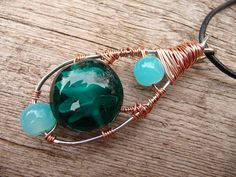 Handcrafted Jewelry Pendant Wire Wrapped by TiffaneeTwisted, $32.98