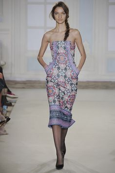 Temperley London - Tiles - China blue palettes, Embroidery - rich royal colours - floral placements - quilting