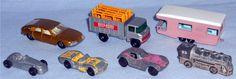 Diecast pick ups from Winter and Spring of 2017: Matchbox - #56 BMC 1800 Pininfarina Matchbox - #11 Scaffolding Truck Matchbox - #23 Trailer Caravan Tootsie Toy Type Diecast Cars & Steam Engine
