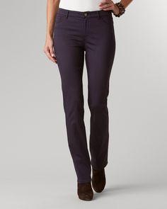 Sateen straight-leg jeans