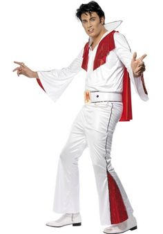 Déguisement Elvis Presley homme – costume The King - Happy Christmas - Noel 2020 ideas-Happy New Year-Christmas Costume Elvis, Red Costume, Elvis Presley, Gotham, Rockabilly Mode, Costumes For Sale, Costumes Uk, Halloween Costumes, Adult Fancy Dress