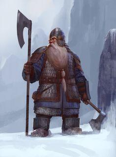 Dwarf warrior by Mischeviouslittleelf.deviantart.com on @deviantART