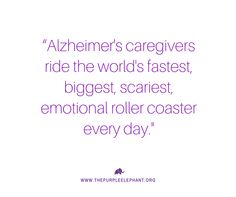 Purple Elephant is a nonprofit organization that is changing the way young people think about Alzheimer's disease on a global scale. Alzheimers Quotes, Alzheimers Awareness, Caregiver, Roller Coaster, Day, Nurses, Science, Roller Coasters, Flag