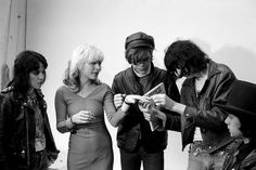 Joan Jett (Runaways), Debbie Harry (Blondie), David Johansen (New York Dolls), and Joey Ramone (Ramones)