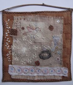 """Nest"" fabric collage by Mary Stanley"