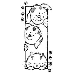 free printable bookmark coloring pages bookmark coloring pages clip bookmarks coloring page bookmarks bookmark coloring pages clip bookmarks coloring page bookmarks coloring pages bookmark coloring pa Cute Coloring Pages, Adult Coloring Pages, Coloring Sheets, Coloring Books, Dog Cards, Penny Black, Digital Stamps, Doodle Art, Cute Drawings