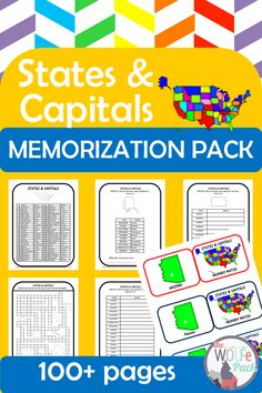 Geography Lesson Plans, Geography Activities, Homeschool Curriculum, Homeschooling, States And Capitals, Learning Games, Matching Games, Lessons Learned, Social Studies
